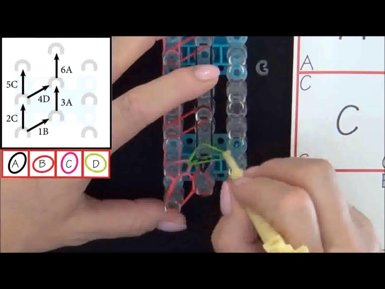 Tutoriel Rainbow Loom: Bracelet Losange