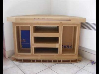 Un meuble de télévision en carton - De sa conception jusqu'à sa construction -