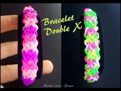 Bracelet double X Rainbow Loom® Tutoriel Français (Niveau Intermédiaire)