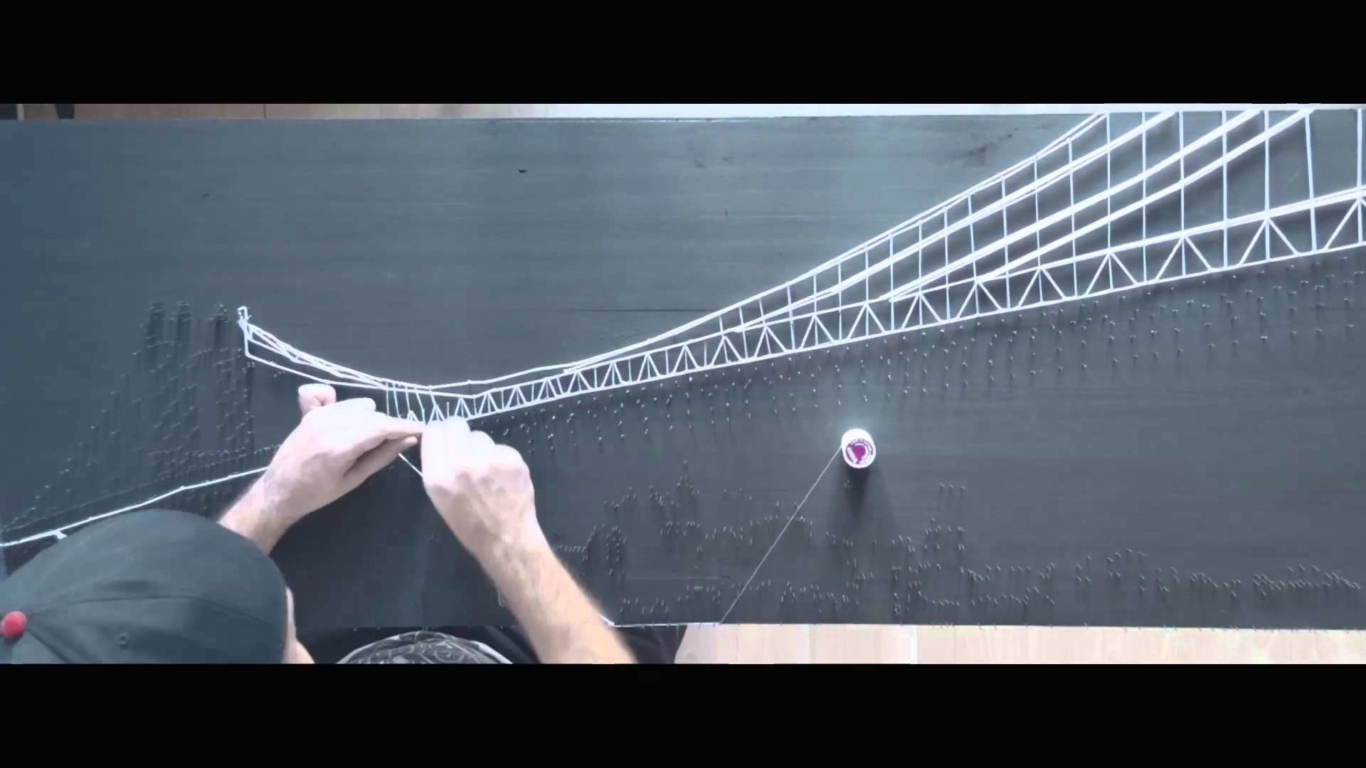 Making of string art new york
