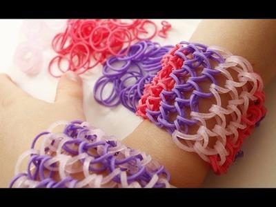 TUTO : bracelet élastique Ecailles de dragon - manchette Rainbow Loom (en Français)