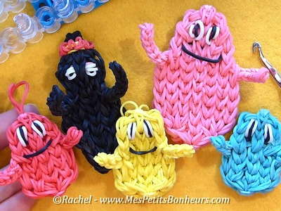Tutoriel garçons Barbapapa en élastiques: Barbidou, Barbibul ou Barbidur Rainbow Loom