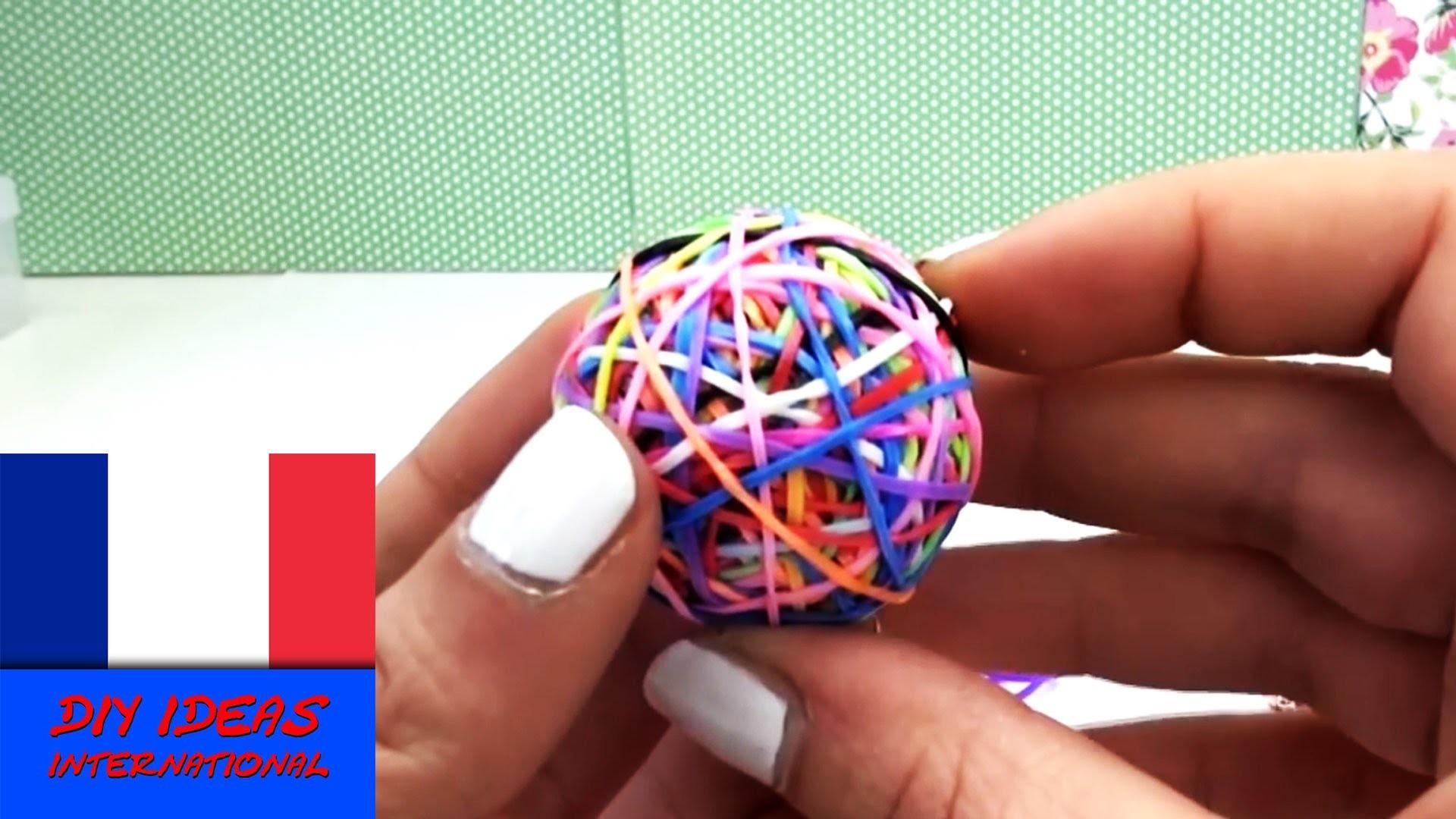 Balle rebondissante Rainbow Loom  balle rebondissante en crazy looms DIY  tuto balle à faire soi mêm