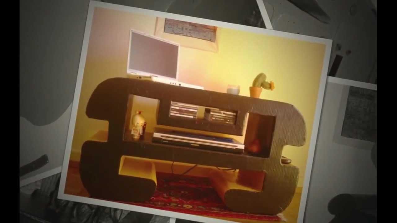 Como hacer muebles de cartón.comme faire meuble en carton
