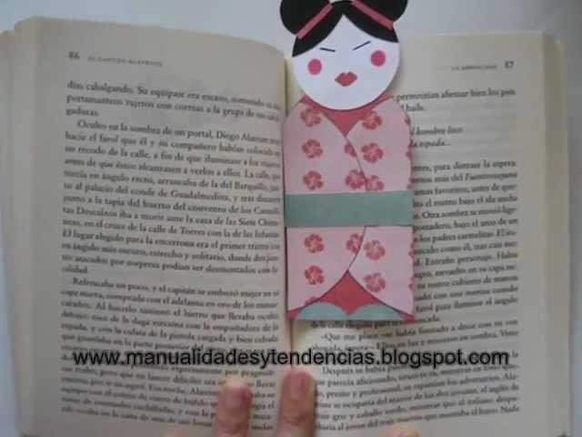 Cómo hacer un marcapáginas Geisha. How to make a Geisha Bookmark