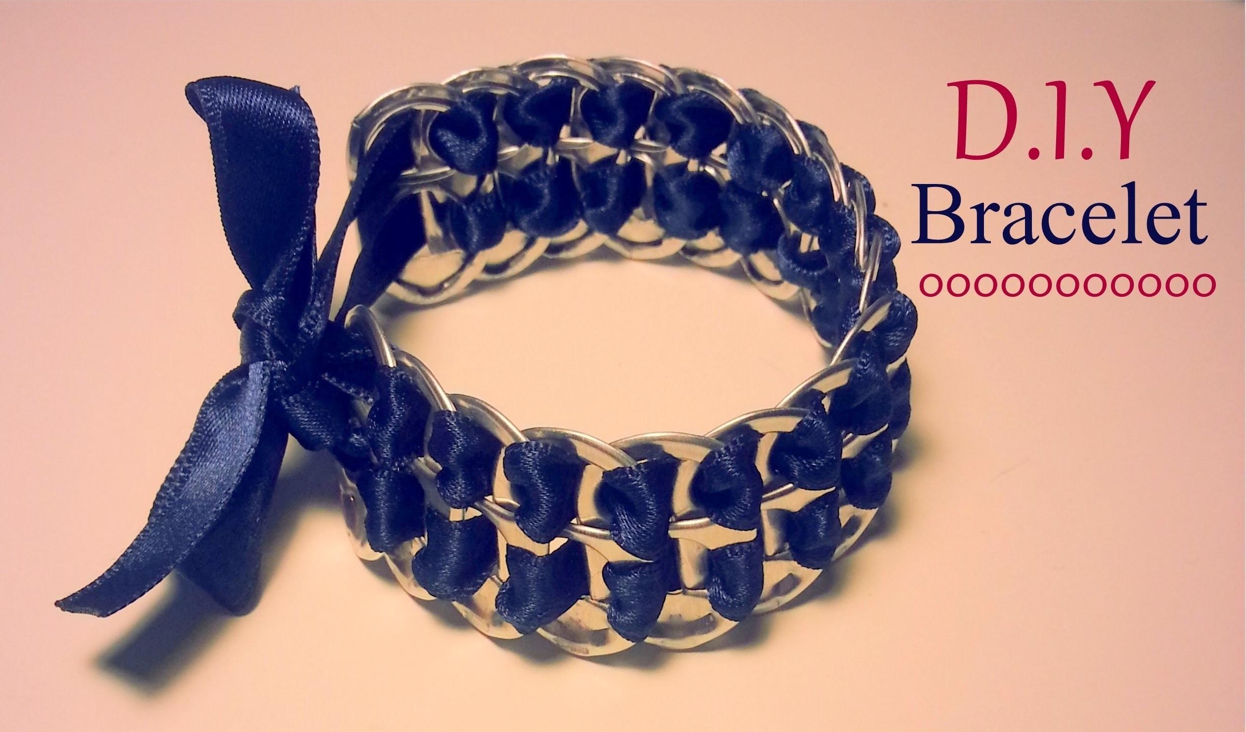 Création D.I.Y Le bracelet capsules de canettes et ruban