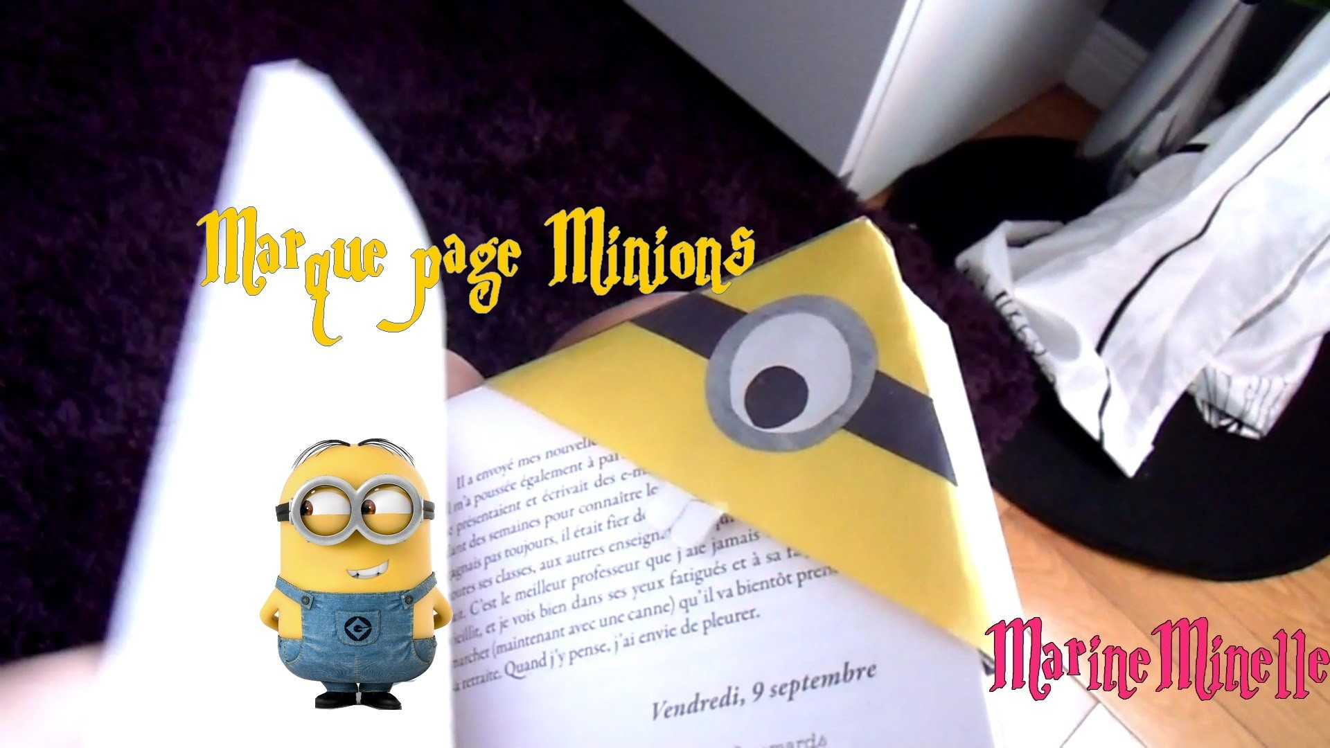 diy marque page minions despicable me. Black Bedroom Furniture Sets. Home Design Ideas