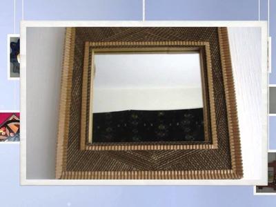 Espejos marco de carton. miroirs cadre en carton