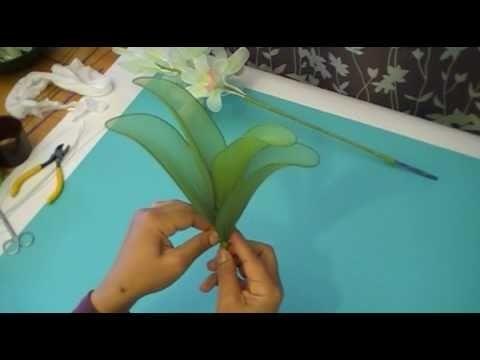 Fabrication d'une orchidée Cymbidium en collant. Nylon Cymbidium Orchid