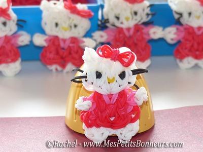 Hello Kitty Rainbow Loom en élastiques - Tuto français