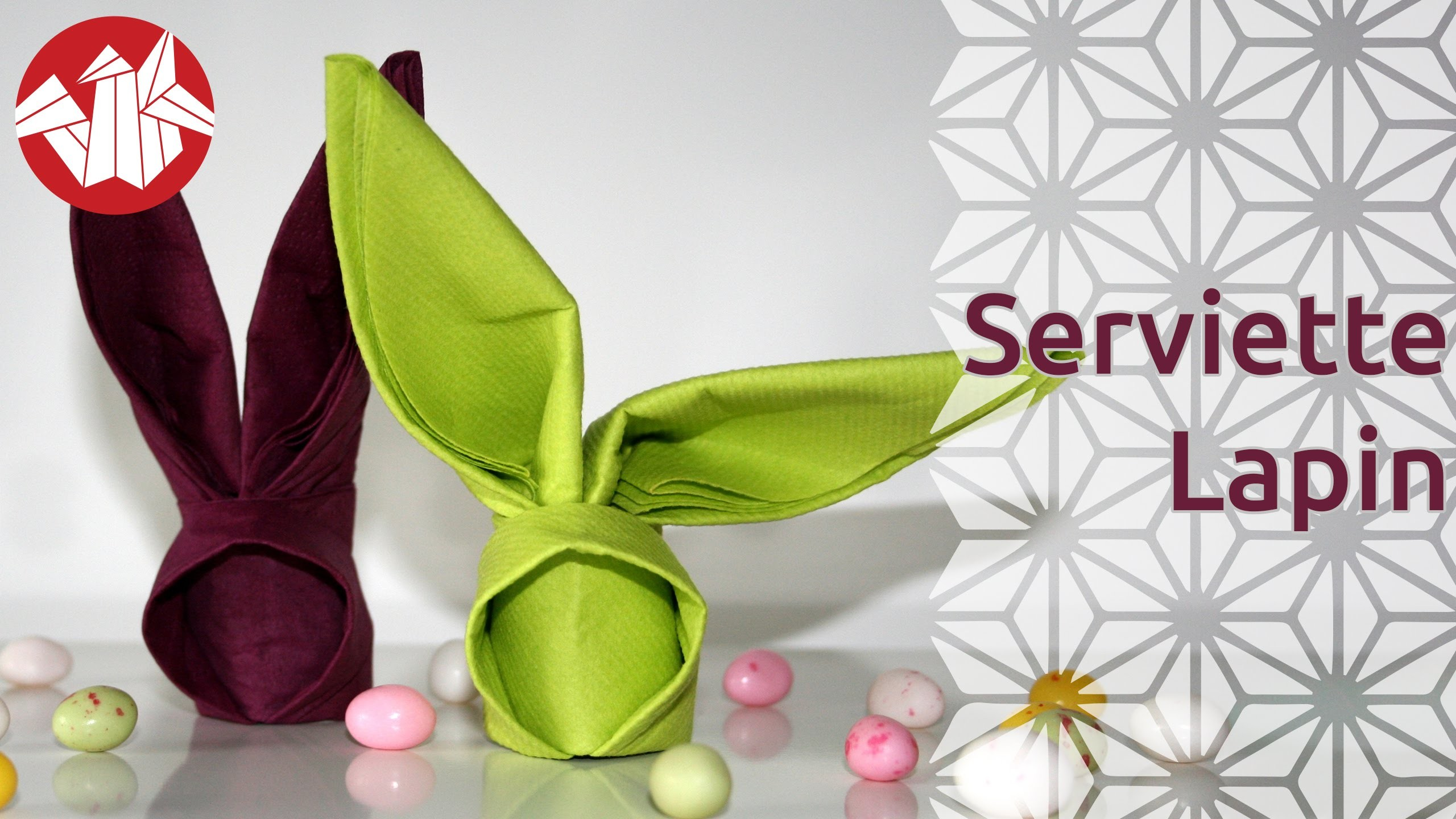 Origami - Serviette lapin - Bunny Napkin [Senbazuru]