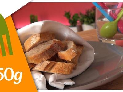 Pliage de serviette façon chauffe-pain - 750 Grammes