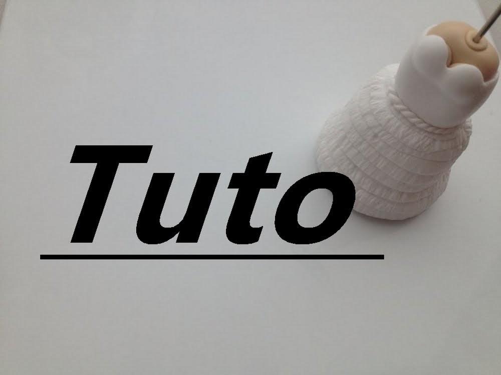 Tuto Fimo - Robe de mariée