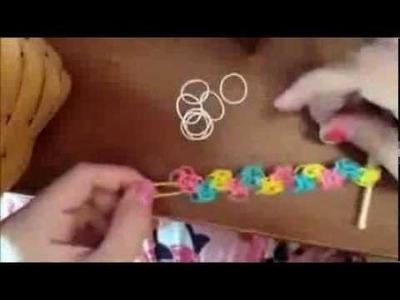 Bracelet zigzag Rainbow Loom explications en français