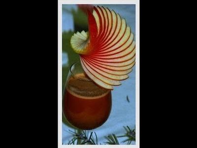 Décorer un verre avec une ellipse en pomme