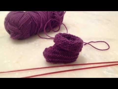 Tricoter des chaussons pour b b le tricot facile apprendre tricoter des chaussons pour - Apprendre a tricoter gratuitement ...