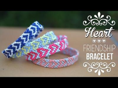 DIY-TUTO : BRACELET BRESILIEN COEUR - Heart friendship bracelets (english subs)