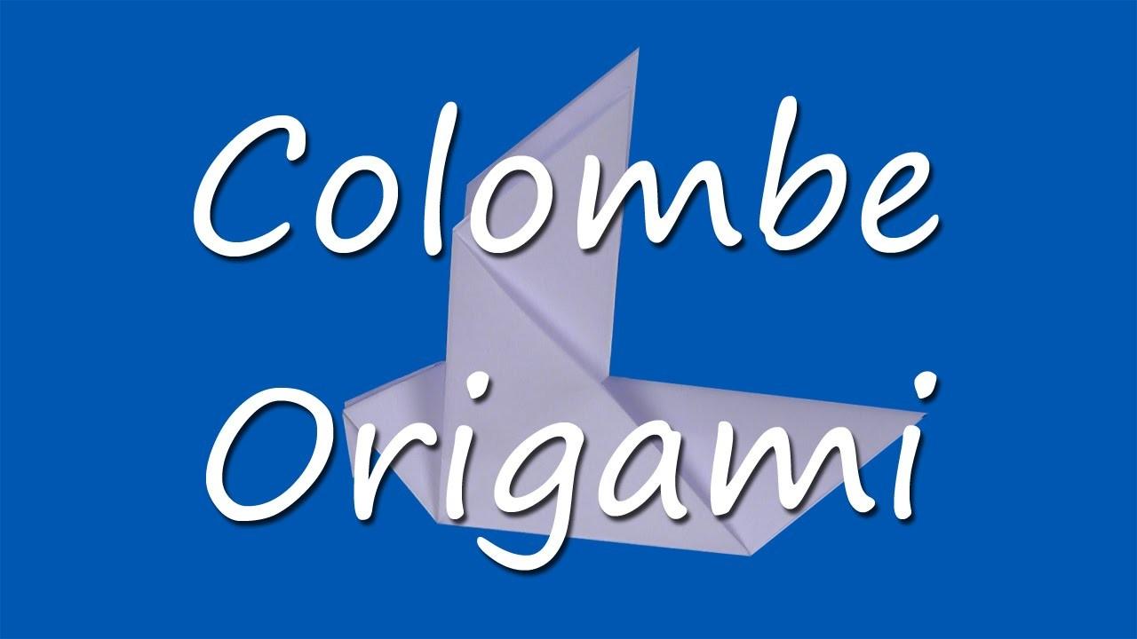 Comment faire une colombe en origami