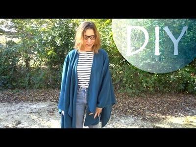 ✄┄ DIY n°7┆ Créer un châle. poncho (facile) !