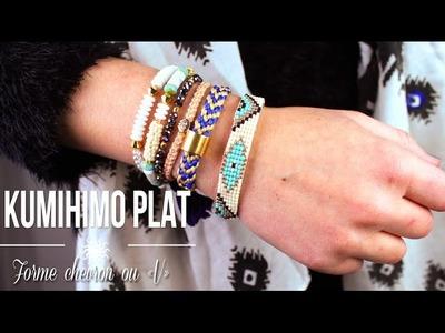 "DIY - TUTO : KUMIHIMO PLAT CHEVRON ""V"" BRACELET BRESILIEN + CONCOURS - Flat kumihimo"