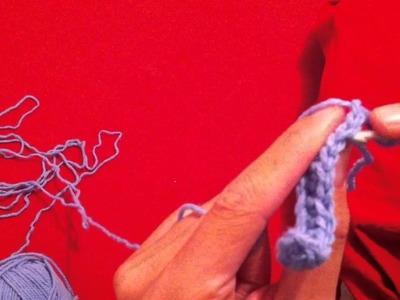 Faire des mailles serrées au crochet - leçon de crochet