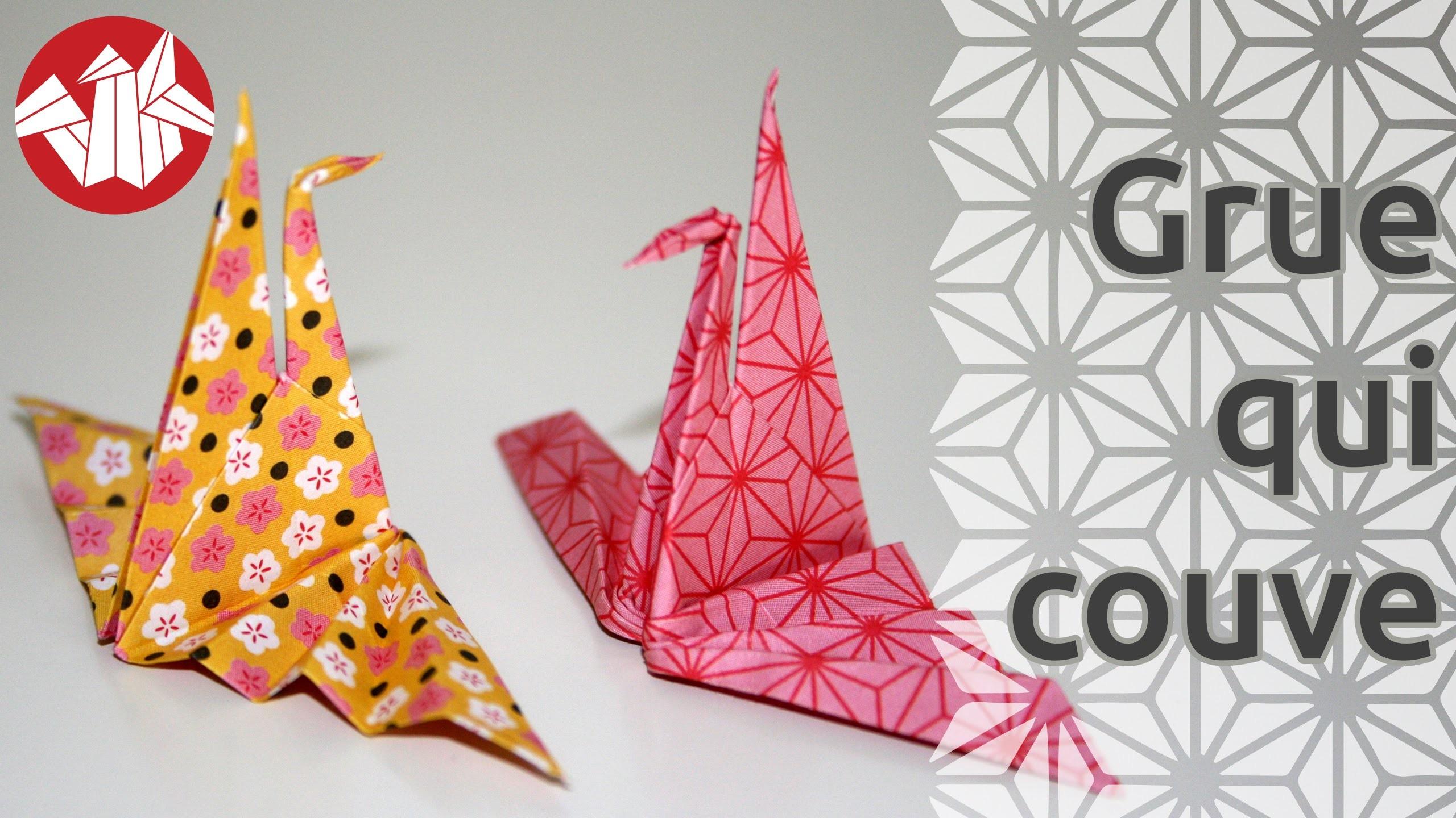 origami la grue qui couve hatching crane hd senbazuru. Black Bedroom Furniture Sets. Home Design Ideas
