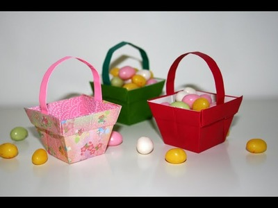Origami - Panier - Basket [Senbazuru]
