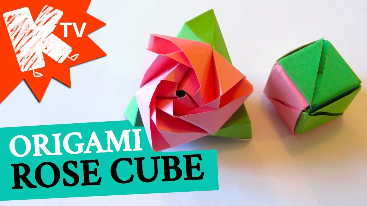Origami Rose Cube magique