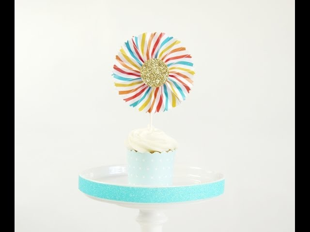 Toppers à Cupcakes DIY -  Mini Rosaces en Papier