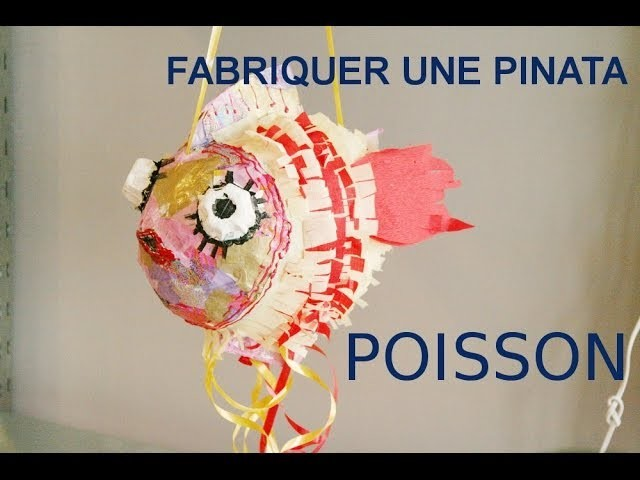 fabriquer une pinata en papier m ch un poisson. Black Bedroom Furniture Sets. Home Design Ideas