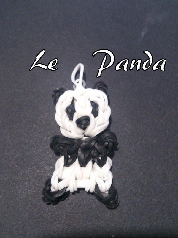 Panda Rainbow loom® Tutoriel Français (Niveau Intermédiaire)