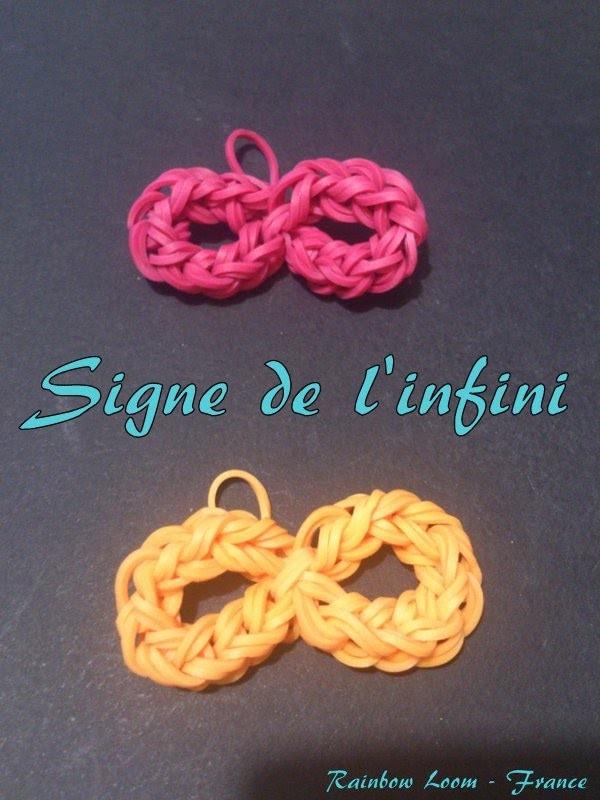 Signe Infini  Rainbow loom® Tutoriel Français (Niveau Débutant)