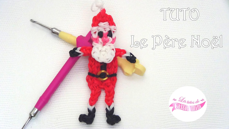 [ TUTO ] Père Noël en élastique Rainbow Loom