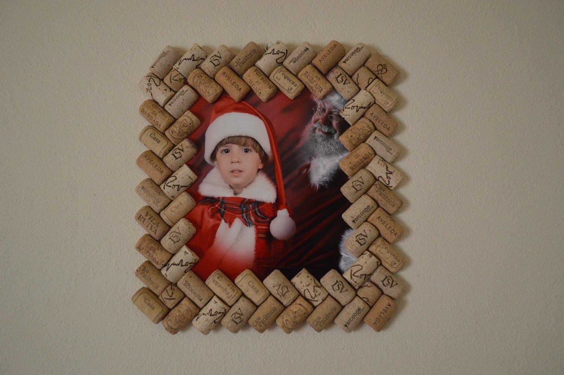 Como hacer Porta retrato con tapones de corcho - How to make Photo Frame with corks