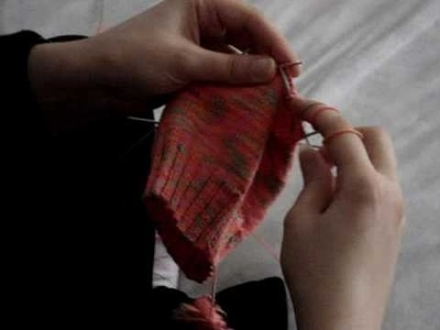 Chaussette tricotée en rond en jersey endroit