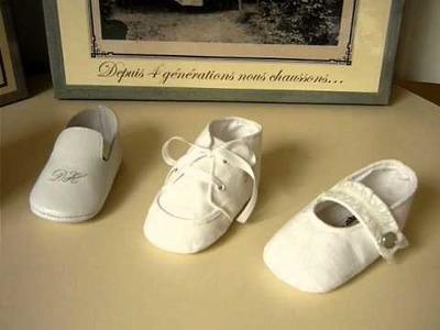 Chaussons bébé baptême
