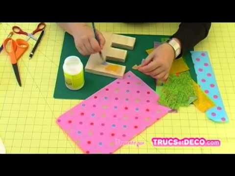 Coller du papier Décopatch avec de la colle vernis - Tutoriel par trucsetdeco.com