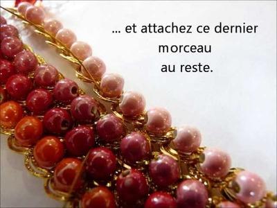 Comment faire un bracelet multirangs avec perles et chaine