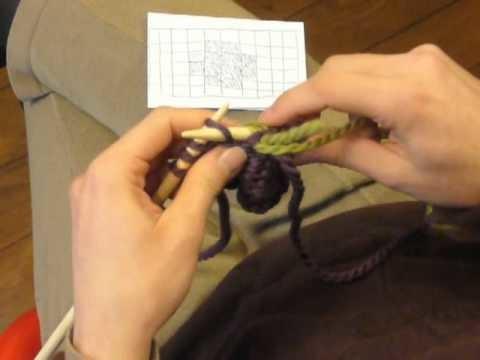 Cours de tricot 12 - le jacquard