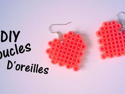 D.I.Y Création boucles d'oreille en perles Hama