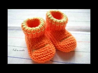 Les chaussons bébé tricot de Kalinous