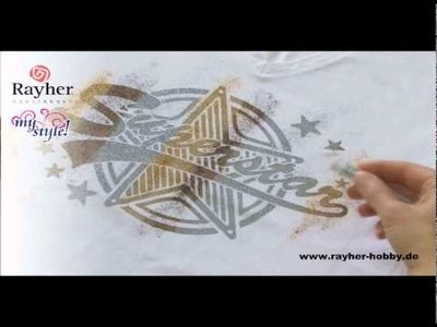 MyStyle de Rayher - Art-Style - impression sur tissus