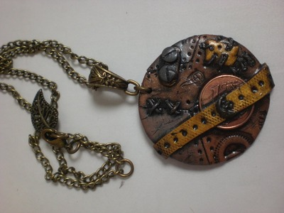 Tuto collier pendentif steampunk en fimo