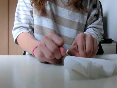 ~ Tuto : Fleur de papier crépon ~ Idéal pour déco !!