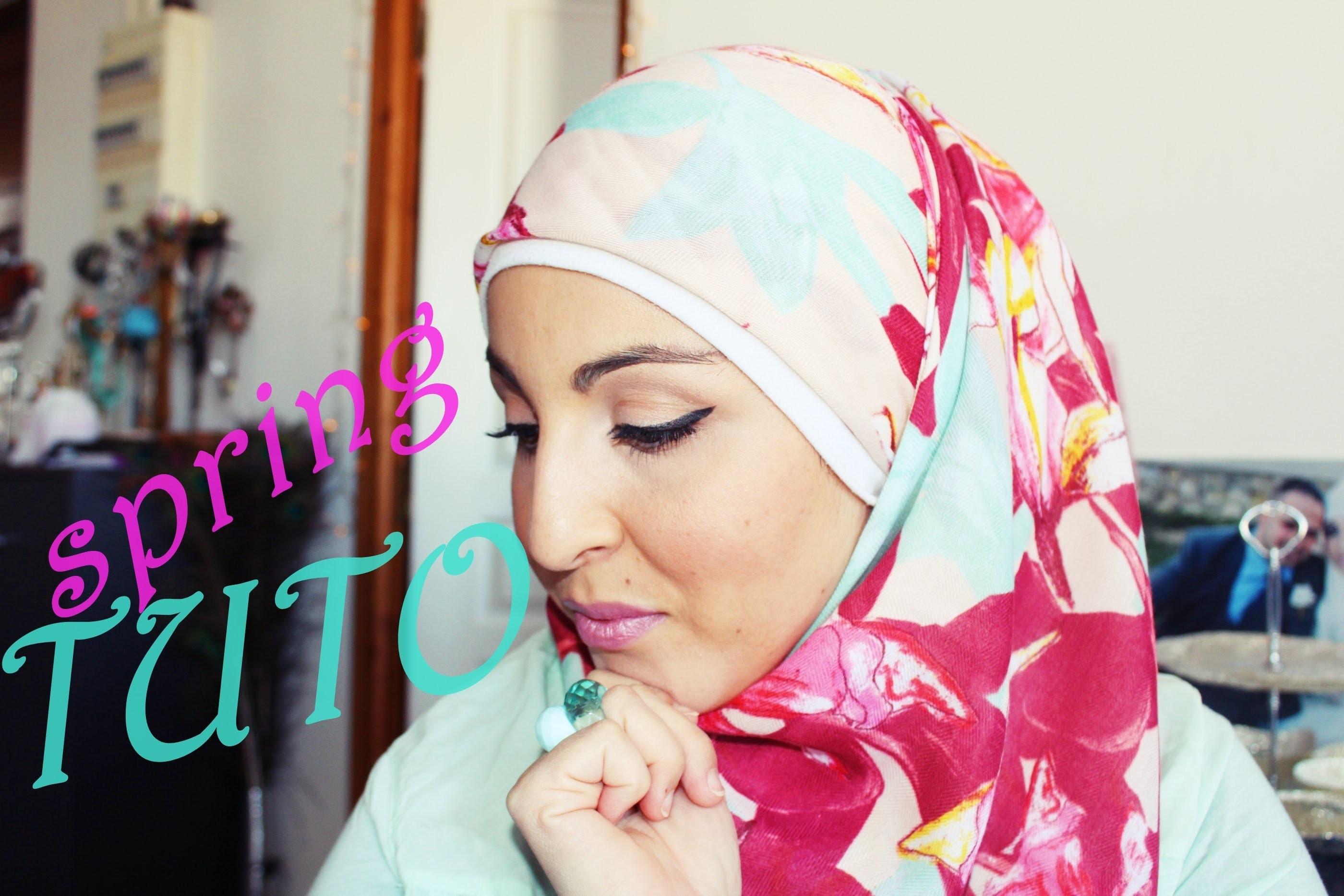 ❀ Tuto  hijab ❀: le carré. squared hijab