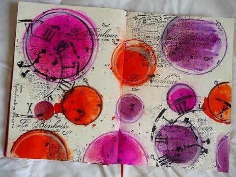 """Tutorial Art Journal """"Le bonheur c'est . """""""