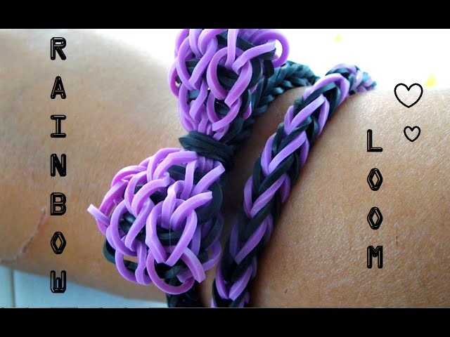 Ƹ̴Ӂ̴Ʒ Création : Rainbow Loom Bracelet Noeud papillon Ƹ̴Ӂ̴Ʒ