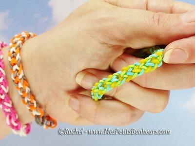 Bracelets brésiliens en élastiques à faire avec les doigts - Facile