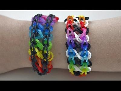 TUTO : bracelet élastique INFINI arc en ciel - Rainbow Loom (en Français)