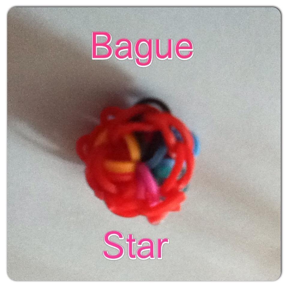 Tuto Rainbow Loom Bague Star (en français)